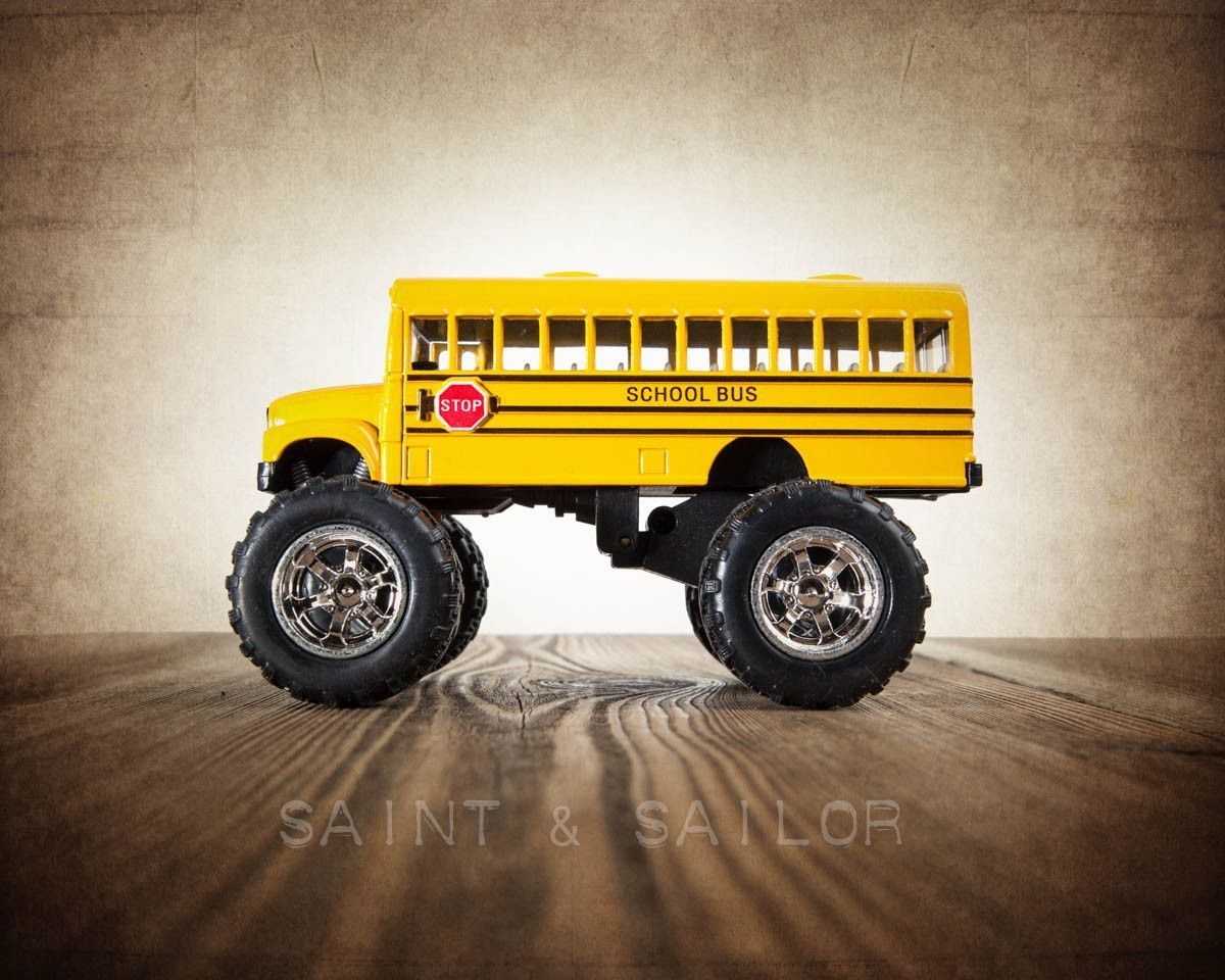 Vintage Monster Truck Monster School bus | Monster school and Products