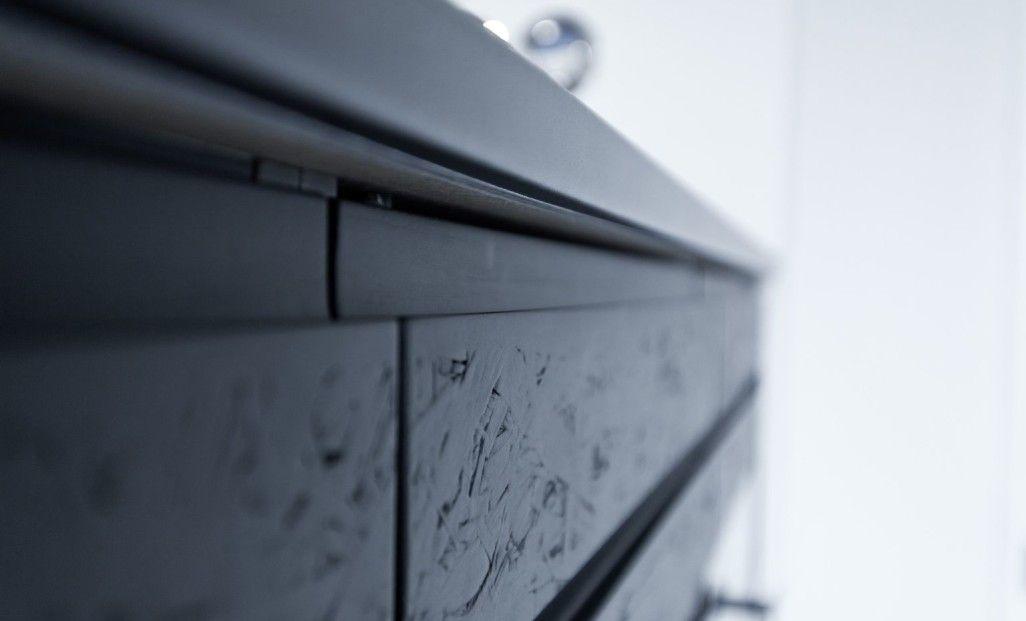 Schwarz, das neue Weiß u2013 Exklusive schwarz matt Küche mit OSB - neue türen für küchenschränke