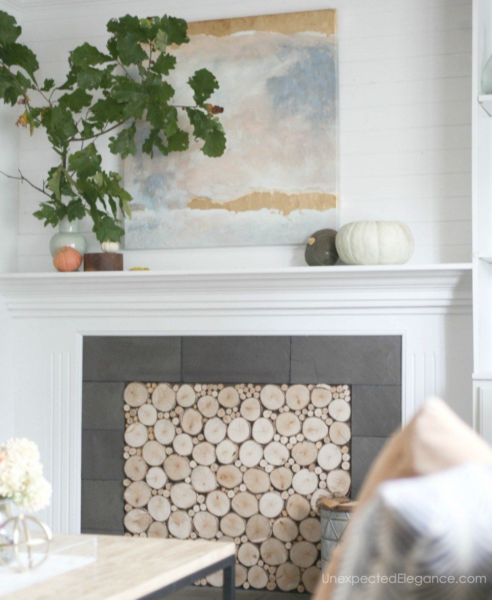 Quick AND SIMPLE Fall Home Tour | Fireplace inserts, Funky junk and ...