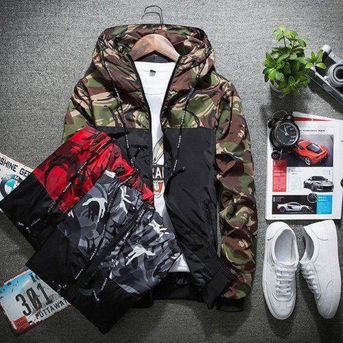 6e9a84a1dc6e Men  s Jacket Casual Thin Hooded Jacket Wind Breaker Spring Autumn Hoodies  Men Outdoor Wear Loose Tops Plus Size S-5XL