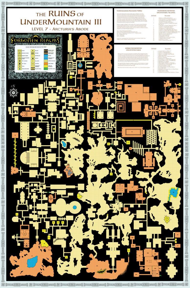 Undermountain III | maps | Dungeon maps, Fantasy map