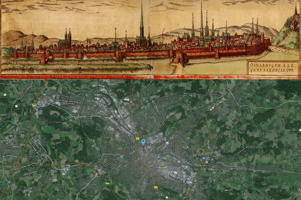 Osnabrück Germany Map Then And Now Maps Pinterest - Germany map then and now
