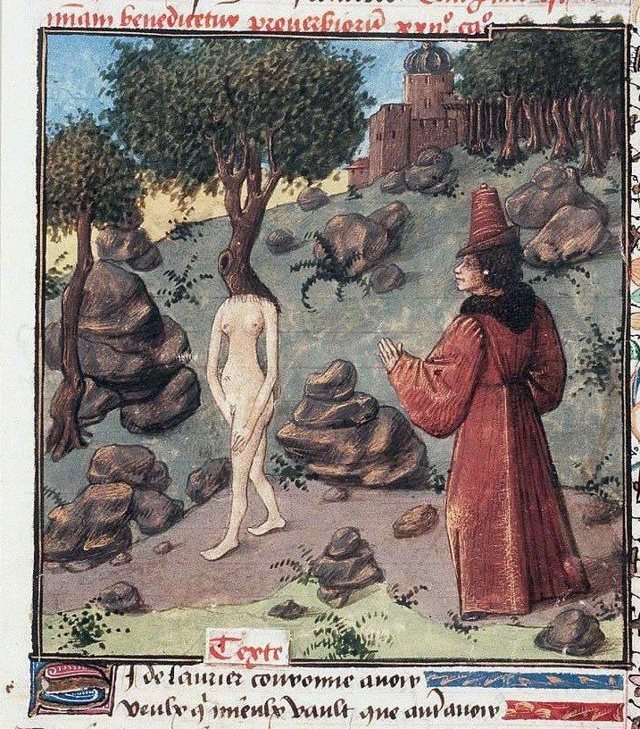Christine de Pisan, L'Epistre d'Othea, Burgundy or Auvergne ca. 1450-1475 (Den Haag, Koninklijke Bibliotheek, 74 G 27, fol. 83r)