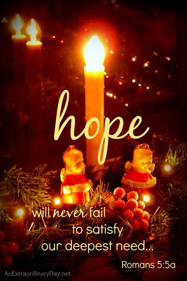 Light The Candle Of Hope The First Day Of Advent