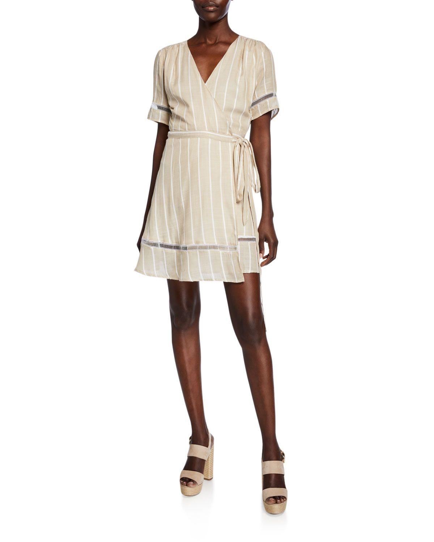 Es Vedra Striped Wrap Dress In Multi Wrap Dress Dresses Striped [ 1500 x 1200 Pixel ]