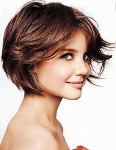 coupe courte visage rectangulaire