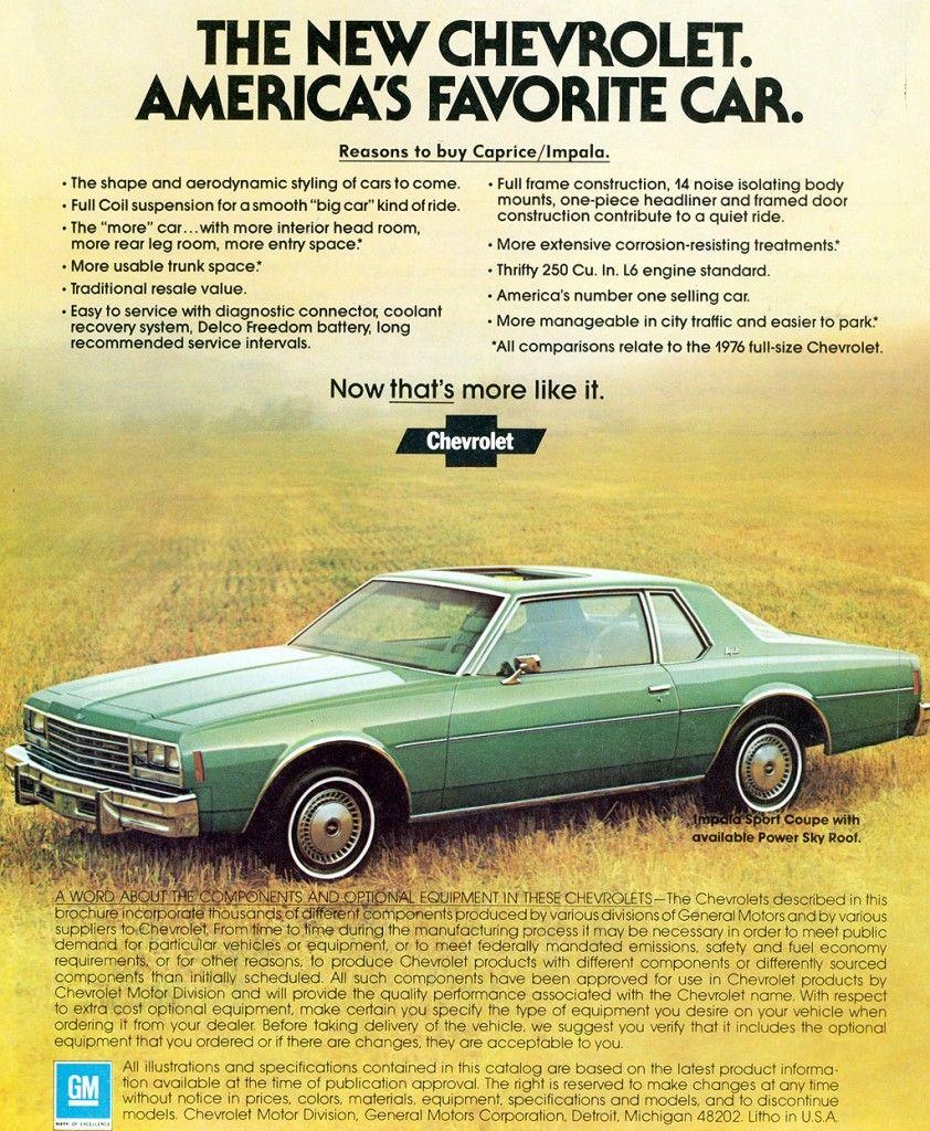 1978 Chevrolet Caprice Coupe Ad