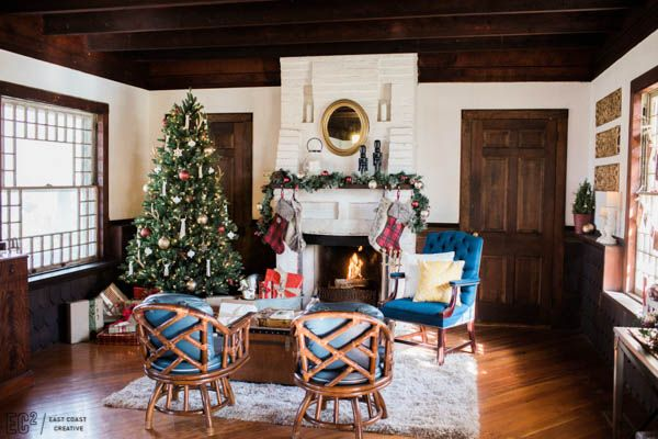 vintage rustic christmas decorating east coast creative 14