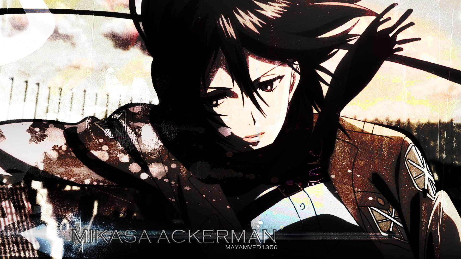Anime Shingeki No Kyojin Mikasa Ackerman Wallpapers Hd Desktop Anime Wallpaper Manga Art