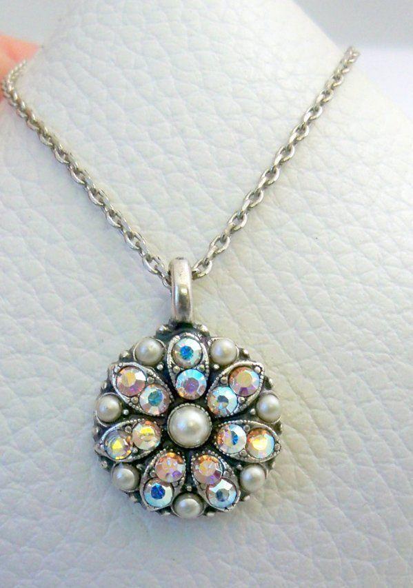 03fa7bb92 Mariana Guardian Angel Necklace NWT Pearl Aurora Boreale Swarovski Crystals