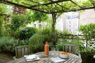I D Like To Sip Tea Here Favorite Places And Spaces In 2019 Terrace Garden Balcony Garden Terrace
