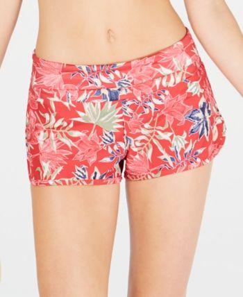 7e02b163b8a3d Roxy Juniors' Printed Swim Shorts - Red L | Products in 2019 | Swim ...
