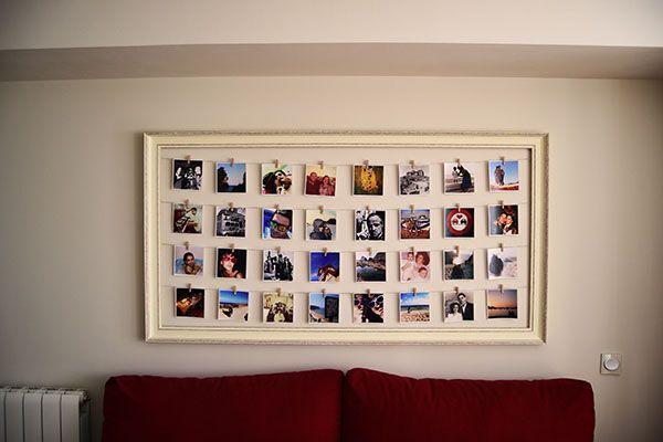 44++ Cuadro para fotos con pinzas inspirations