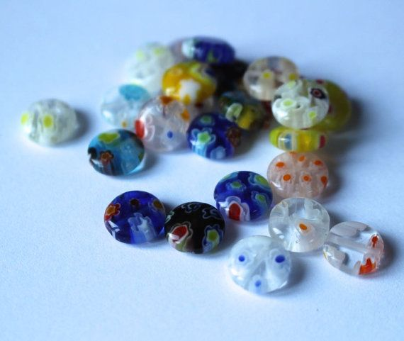 millefiori coin beads mixed bag by allthatglittersbeads on Etsy