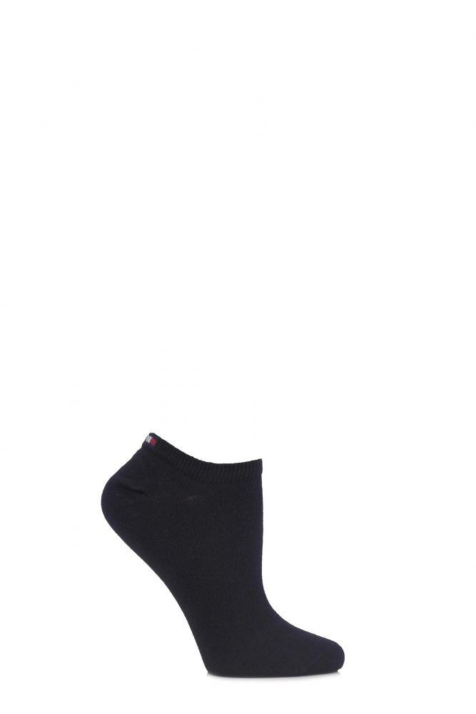 be69d3c7e Ladies 2 Pair Tommy Hilfiger Plain Cotton Sneaker Socks