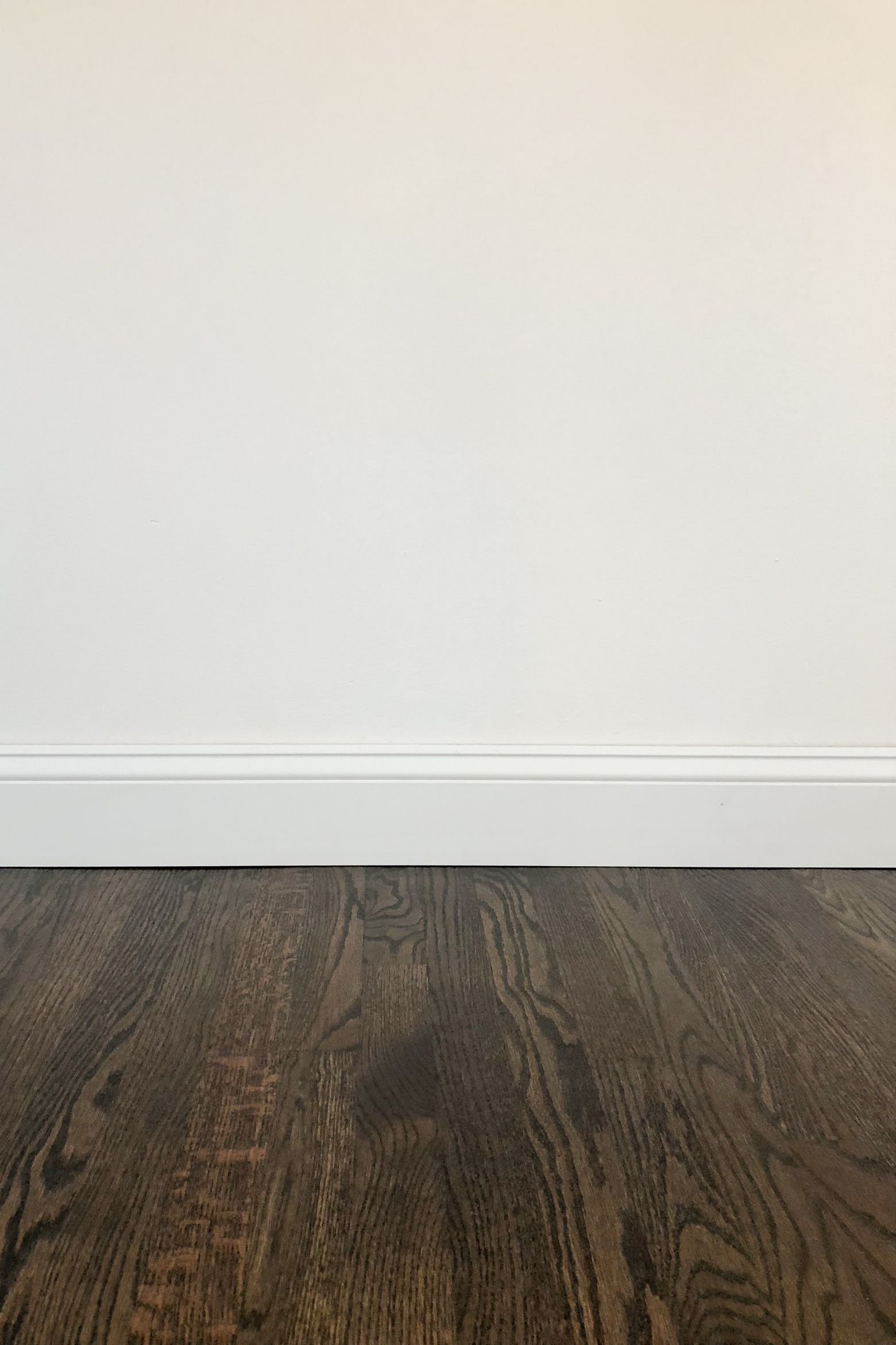 Dark Wood Floors And White Walls Jacobean Ebony Custom Mix