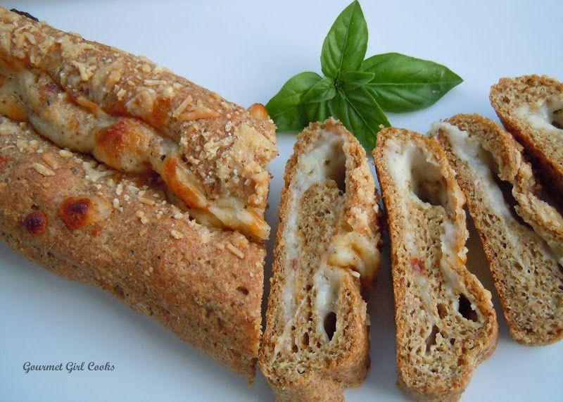 Easy Cheesy Herbed Baguette Bread Grain Free Baguette Bread