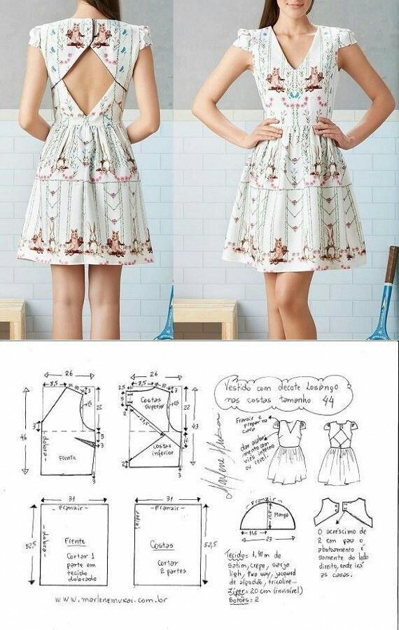 Dress pattern | patter free | Pinterest | Costura, Vestidos y ...