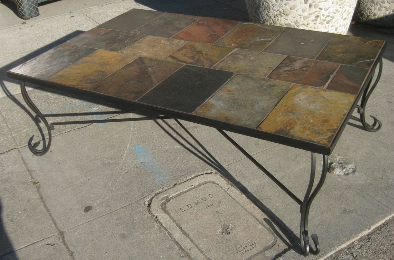 slate tile coffee table posted by