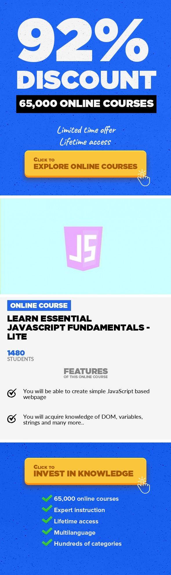 Learn Essential Javascript Fundamentals Lite Web Development