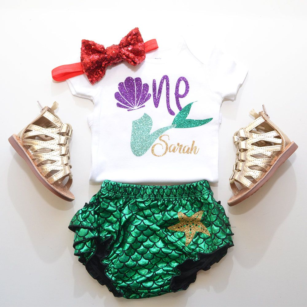 7acc54a9e Little Mermaid first birthday outfit, under the sea outfit, mermaid ruffle  bloomer, under the sea party theme. little mermaid party. by  GabyRobbinsDesigns ...