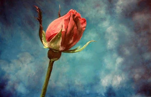 Praying Rose    Re posting for friends kindly added me recently.  Inspired by a picture belongs to my friend  +Don Spenner  thank you Don.    OIL PAINTING ON CANVAS 60*90CM
