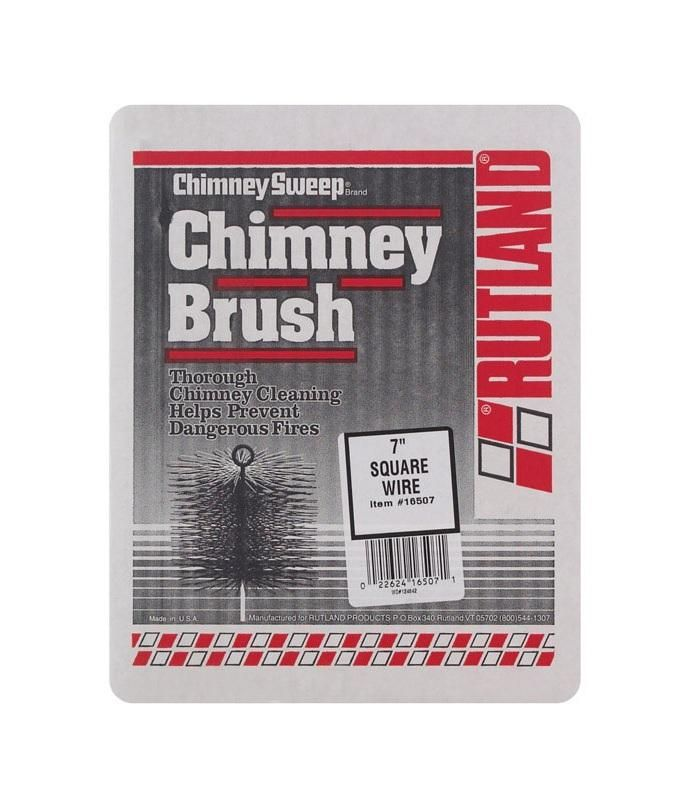 Rutland Chimney Sweep 16507 Square Wire Brush 7 L X 7 W Black