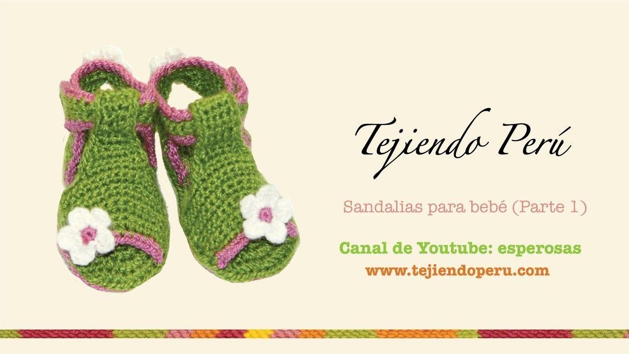 Sandalias para bebe tejidas a crochet (Parte 1: la suela ...