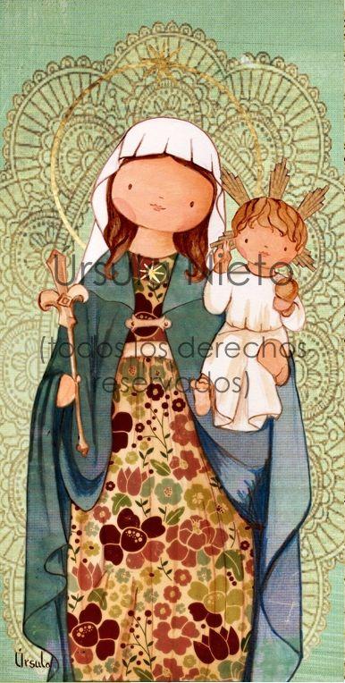 e1ab7b37522d Virgen de la Estrella La Salle. Virgencita. Ilustraciones infantiles ...