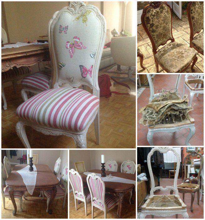 Restauraci n de un comedor destapizado y encolado de - Restauracion de sillas ...