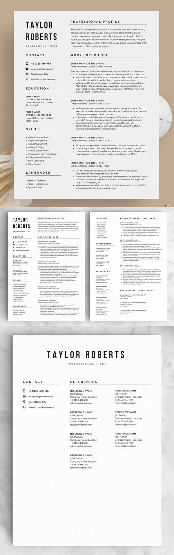 20 Creative Cv Resume Templates With Cover Letters Design Graphic Design Junction In 2021 Resume Template Word One Page Resume Template Simple Resume Template