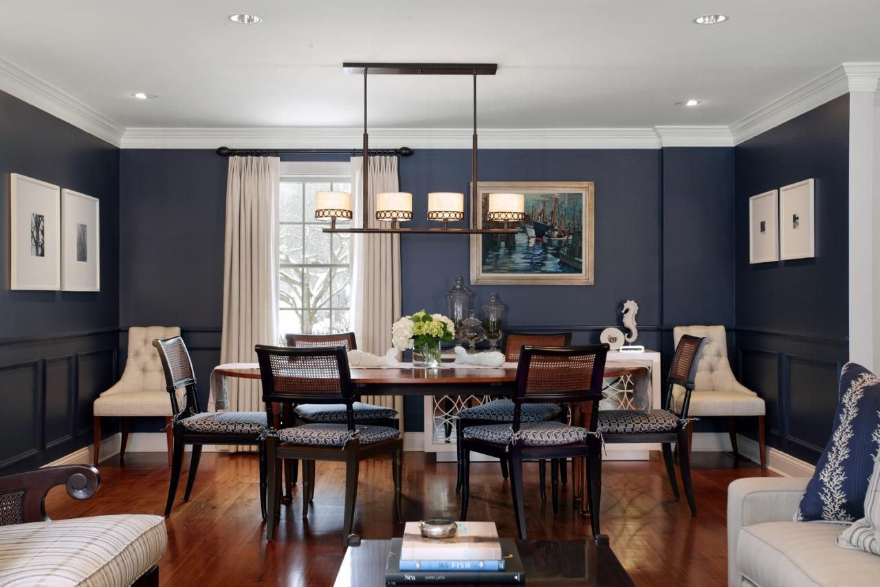 Modern And Blue Dining Room Design