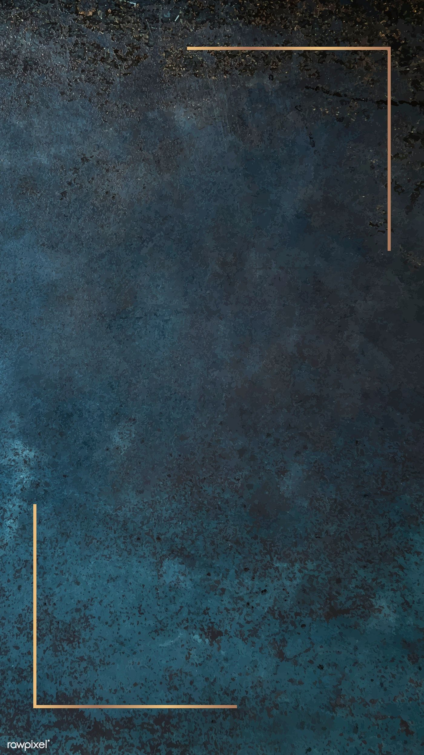 Download Premium Vector Of Gold Frame On Grunge Blue Mobile Phone Framed Wallpaper Phone Wallpaper Images Perfect Wallpaper