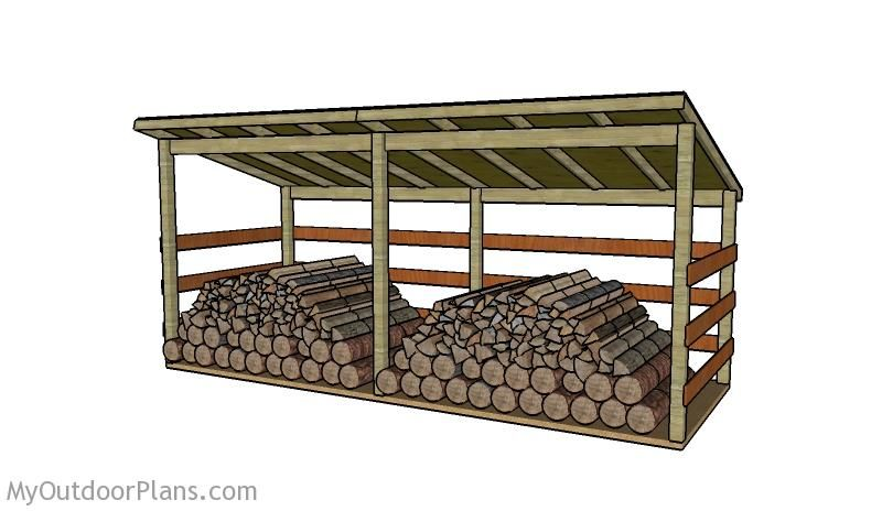Large Firewood Shed Plans To Make Pinterest Shed Plans