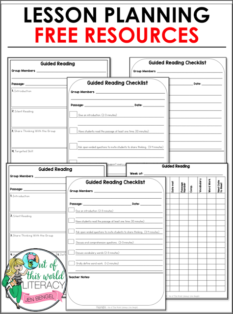 How To Use Interventions In Guided Reading Out Of This World Literacy Guided Reading Lesson Plan Template Guided Reading Lesson Plans Reading Lesson Plans