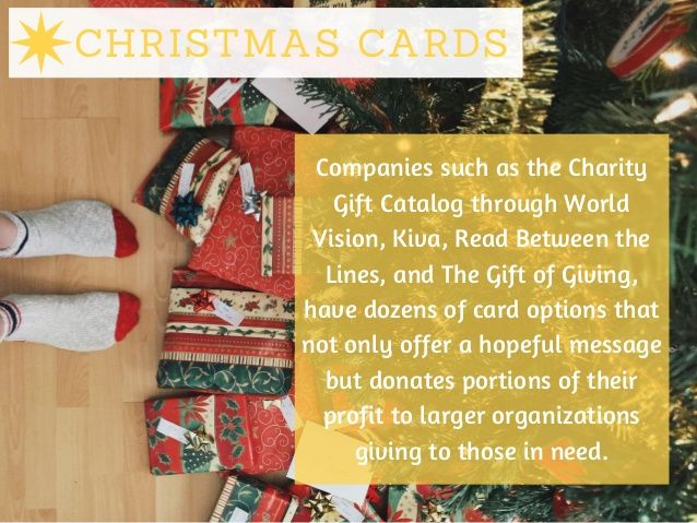 Christmas Cards Companies Such As The Charity Gift Catalog Through World Vision Kiva Read Between The Lines A Charity Gifts Gift Catalog Christmas Cards