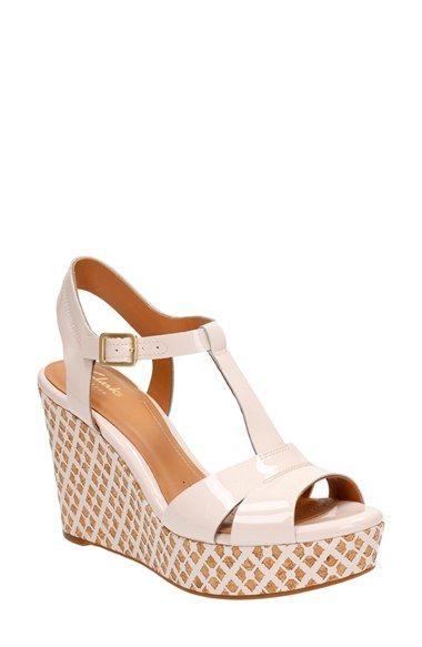 c2d5220f0d Clarks® 'Amelia Roma' Wedge Sandal (Women)   Shoe closet in 2019 ...