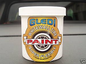 WHITE WALL TIRE PAINT SUPER FLEX/NO CRACKING,WHITEWALL,classic,vintage,8 0Z,tyre