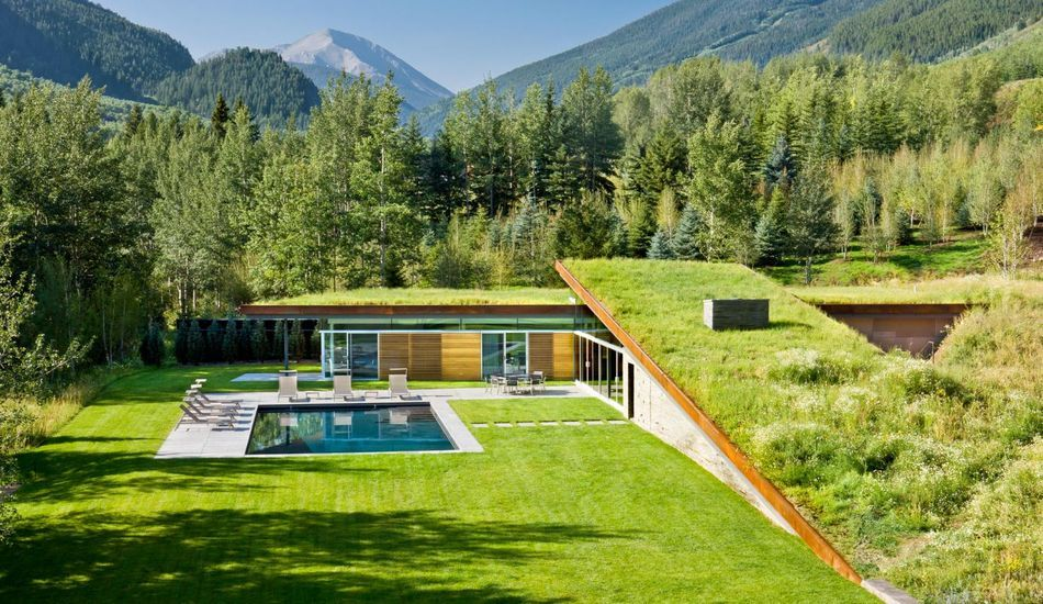 Favori Magnifique maison contemporaine semi-enterrée avec son toit  II93