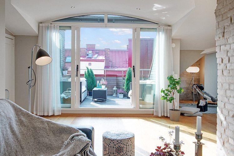 als Highlight einer Dachgeschosswohnung dient die Dachloggia - deutsches wohnzimmer