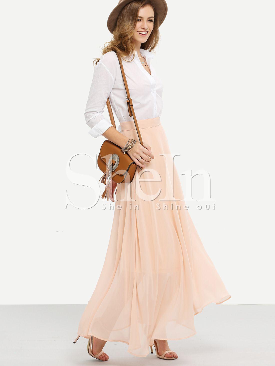 robe+évasée+avec+zip+-rose++14.82