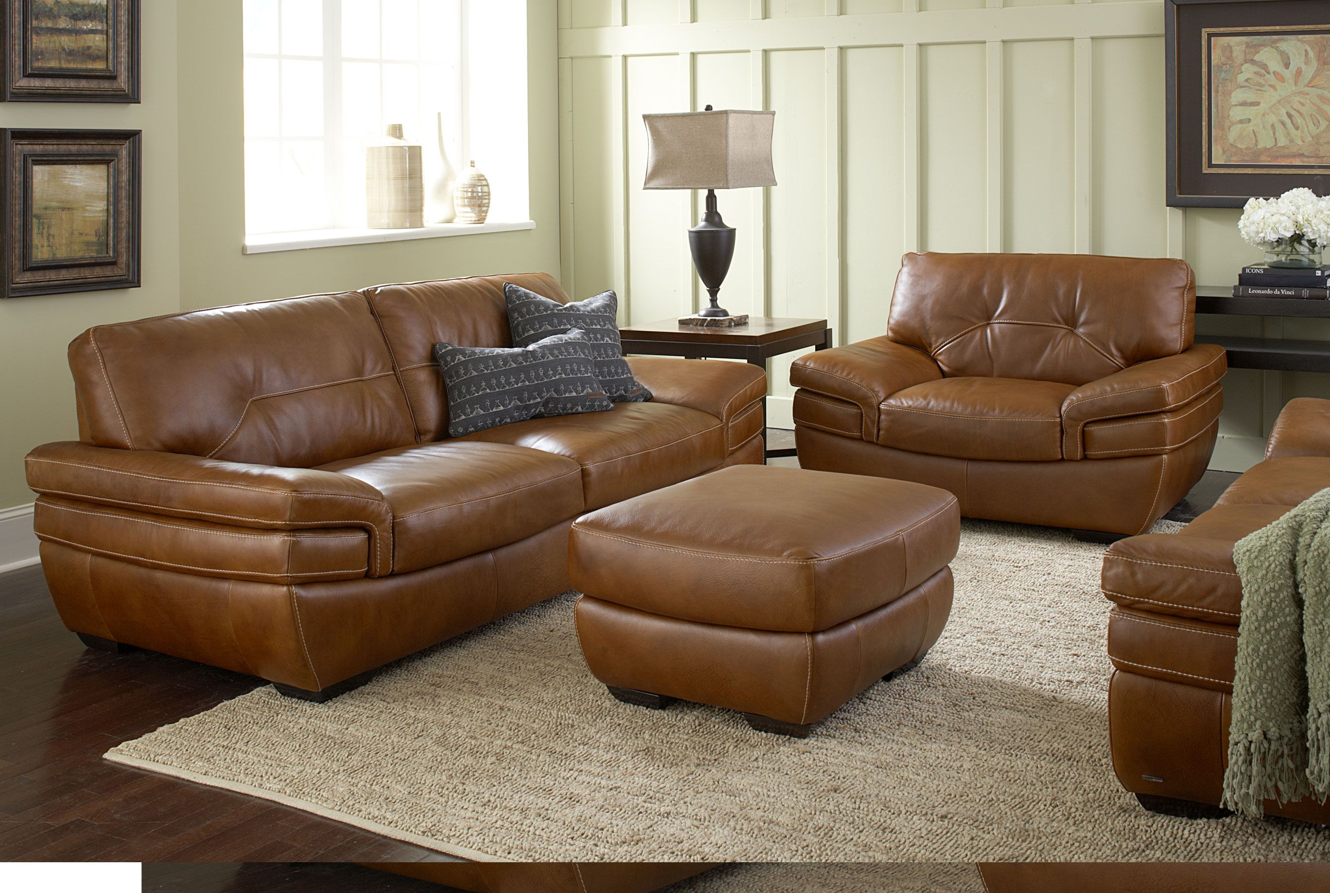 Biagio B806 100 Top Grain Leather Sofas And Sectionals
