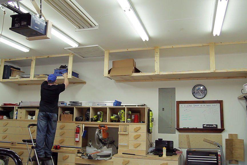 Wasted Space High Garage Storage Shelves Garage Storage Shelves Garage Storage Shelves Diy Overhead Garage Storage