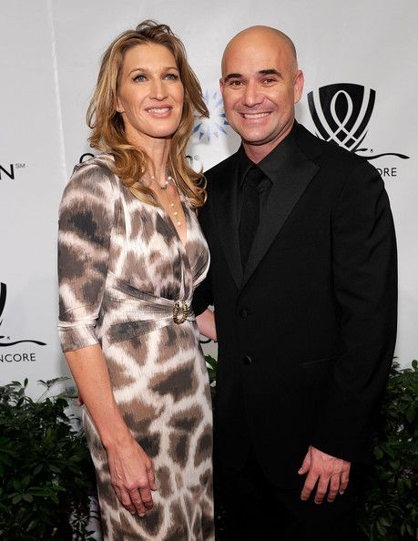 Former Tennis Players Steffi Graf L And Andre Agassi Arrive At The