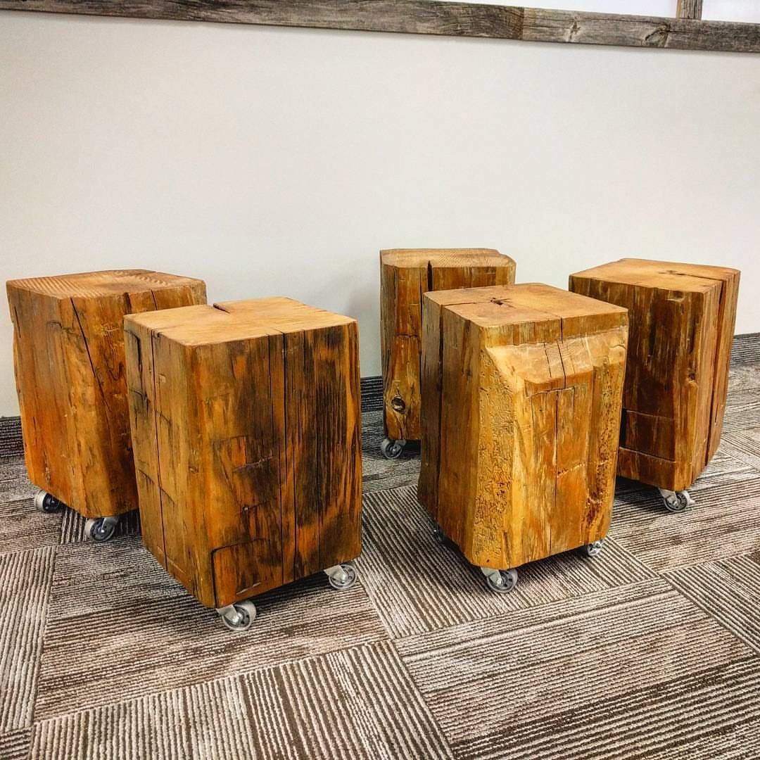 Barn Wood Furniture Ideas: Reclaimed Barn Beam Cubes By Barnboardstore.com. These