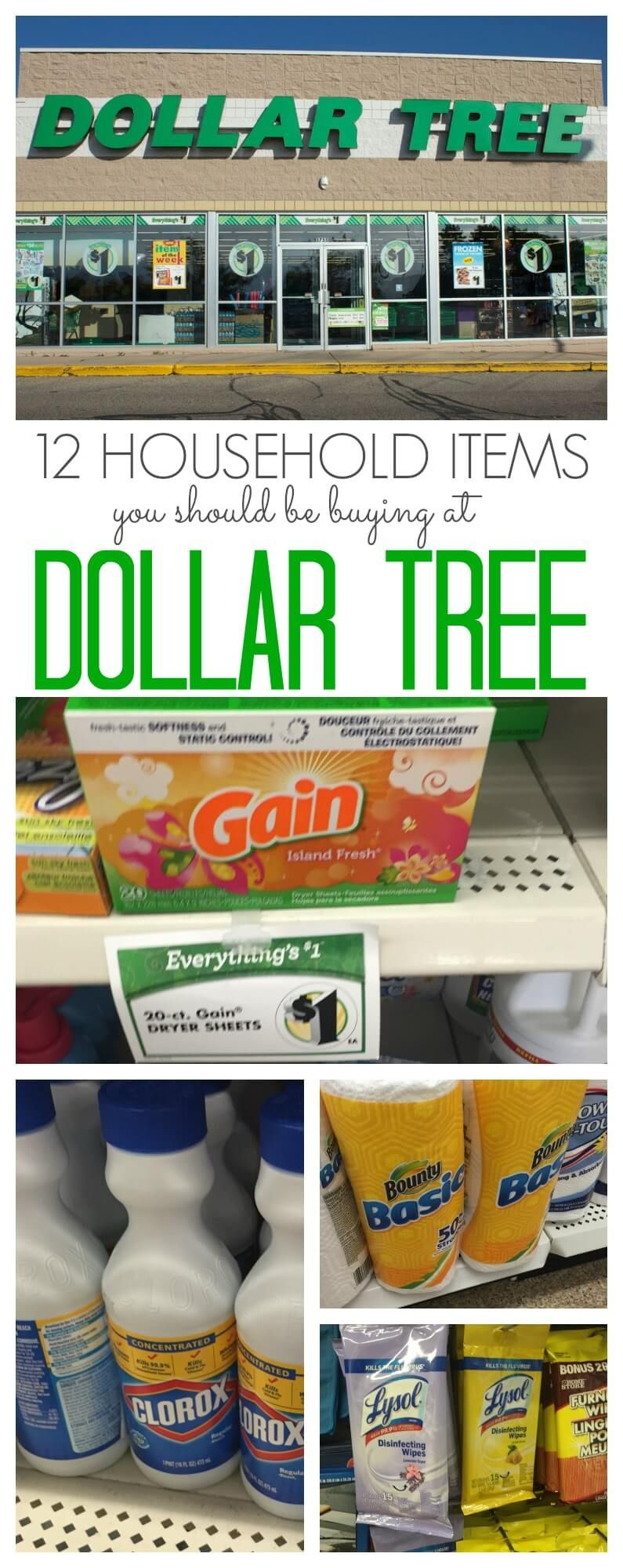One of the stores you should be shopping at is Dollar Tree. Dollar Tree can be great for groceries, kids items and more. Check out these 10 household items you should buy at Dollar Tree to save. via @Passion4Savings #householdhacks