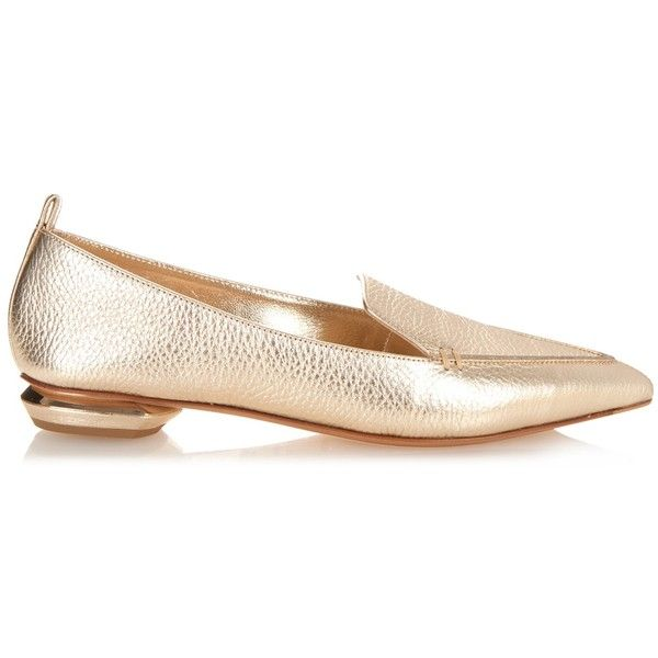 Beya point-toe grained-leather loafers Nicholas Kirkwood fij1PI
