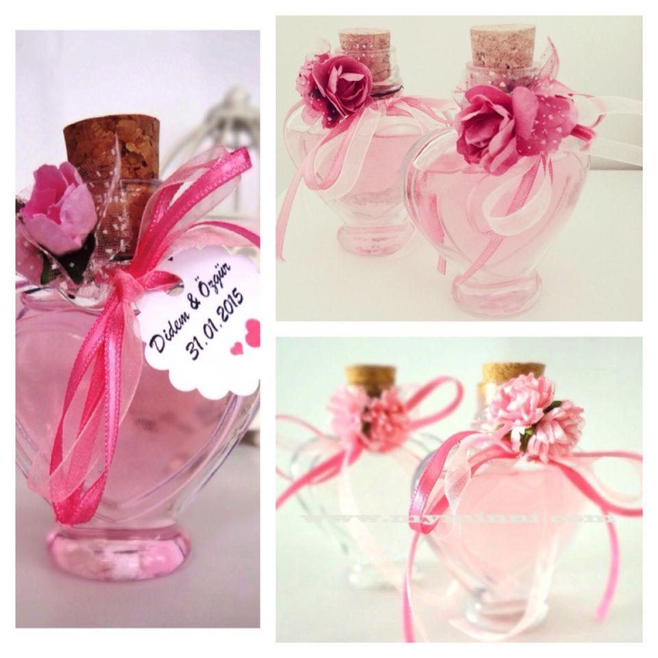Nişan ve düğün için hazırladığımız renkli kolonya şişeleri www ...