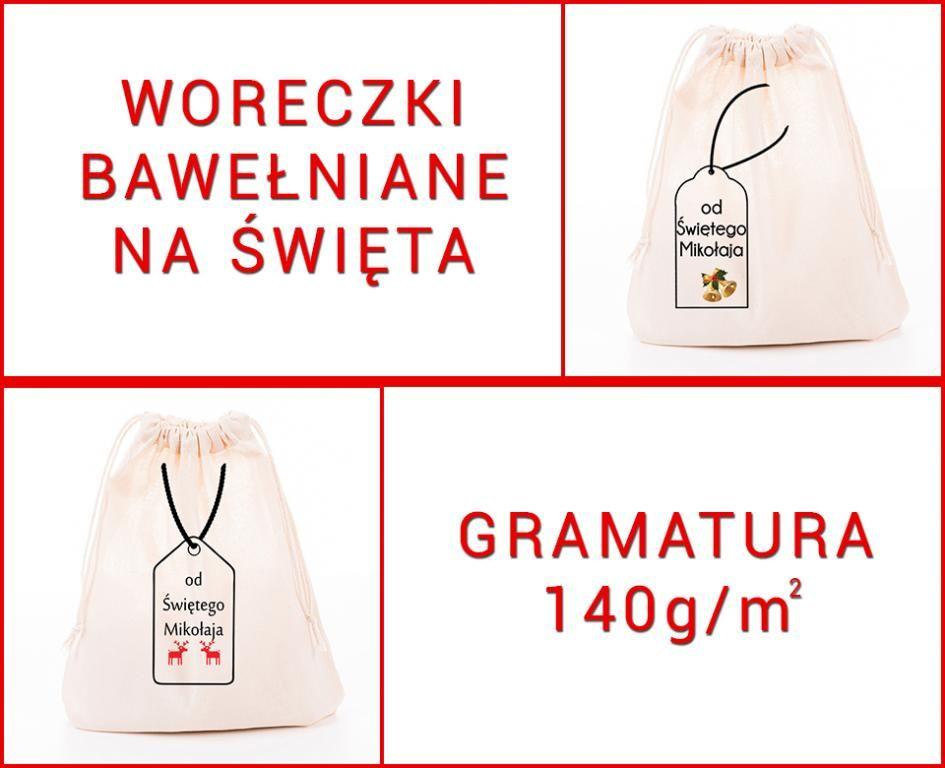 Woreczek Bawelniany Na Swieta 15x20cm Na Upominek 5794397781 Oficjalne Archiwum Allegro