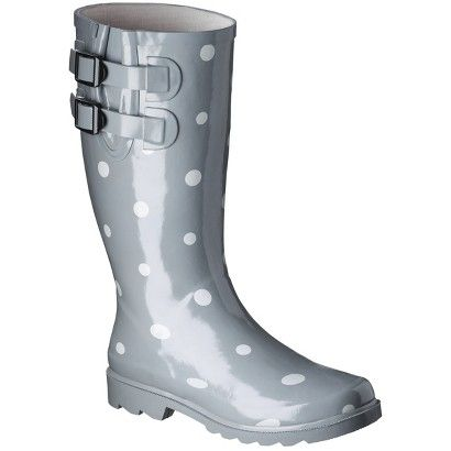 Women's Novel Dot Rain Boots   Boots